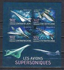 Avions Centrafrique (63) série complète de 4 timbres oblitérés