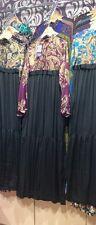 ✿Girl in Hijab Pretty Silk Long Maxi Party Dress Abaya Muslim Jilbab 10-12-14-16
