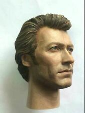 "1/6 Scale Clint Eastwood Head Model Collection Sculpt For 12"" Action Figure"