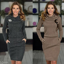 Fashion Women O-Neck Package Hip Pencil Business Bandage Cocktail Mini Dress New