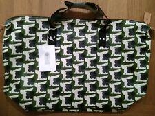 Orla Kiely baby bunny print zip shopper bag, Colour Grass.