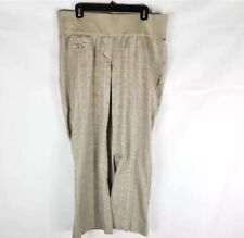 Liz Lange Maternity Pants size12Brown Plaid Pregnancy Bottoms Underbelly Small