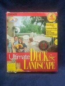 Professional Ultimate Deck & Landscape Design & Estimating 2 Disk Set by Punch