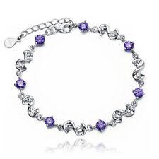 T8 Purple Charm braclets For women Silver plated Bracelets & Bangles Bracelet V