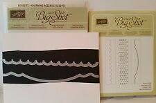 Stampin Up ADORNING ACCENTS Edgelits Dies and EMBOSSING FOLDERS Bigshot Sizzix