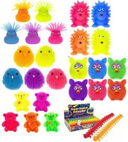 Kids Light Up Flashing Puffer Teddy,Duck,Owl Sensory Squishy Stocking Filler Toy