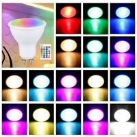 GU10 LED Lights Bulbs 10W Spotlight Bulb Lamp RGBW/WW 16 Colour Changing Remote