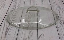 Corningware Casual Elegance White Flora Clear Glass L-32 C Replacement Lid