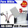 5X T10/194&Car RV Trailer 1141/1156/BA15S 48SMD Interior LED Light Panel Bulbs