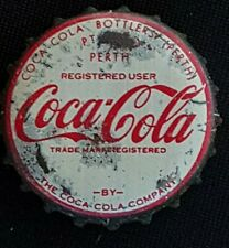 1950,s Perth Coca Cola Bottle caps Crown Seal Cork Used