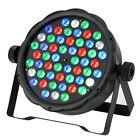 54 LED RGB Stage PAR Strobe Party Light Black Disco DJ Lighting DMX-512