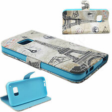 Fold Stand Leather Card Pocket Mobile Phone Protective Cover Case For HTC One M9