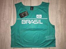 BNWT NIKE DRI-FIT BRAZIL Cropped Mesh Sleeveless Running Vest Tank Top Med Green