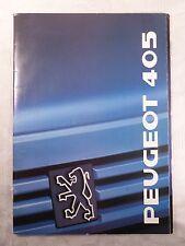 Heft / altes Prospekt Peugeot 405 von 1989