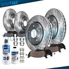 Front and Rear Drilled Rotors + Brake Pads for Toyota Sienna Highlander Lexus