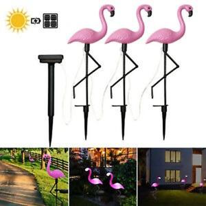 Solar Powered Flamingo LED Light Lawn Lamp Garden Decor Solar Lights Waterproof