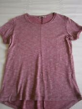Ladies burgundy/pink top with white flecks size 8