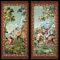 TWO STUNNING TAPESTRY/ WALL HANGING/PANELS-DOLLS HOUSE-PICTURE NO.449