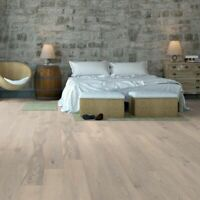 Engineered Wood Flooring Click Chalk Brushed Matt Lacquered Floor Real Wooden