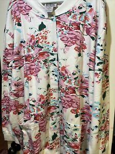NWOT Anthony Richards Women's Size 3X Long Sleeve Snap Up Flower Fleece Cardigan