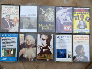 Music Cassette Tapes Job Lot / Bundle 10 Tapes Various Artists And Genres