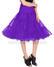 Womens Short Petticoat Tutu Dress Prom Skirt Retro Wedding Crinoline Party Slips