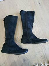 MERRELL Blazing Star Suede Boots black Zipper Stretch Knee High Sz 7.5