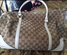 Gucci Monogram Handbag (Horsebit Nail Boston) Large