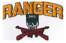 RANGER - SKULL w/GUNS CROSSED - IRON or SEW-ON PATCH