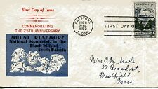 1952 MOUNT RUSHMORE 25TH ANNIVERSARY UNKNOWN UNUSUAL CACHET HAND ADDRESSED FDC