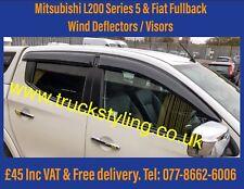 Mitsubishi L200 Series 5 Wind Visors / Deflectors / Guards 2017+ Models x4 pcs