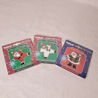 Lot of 3 Janlynn Quick & Easy Christmas Ornament Counted Cross Stitch Kits NEW