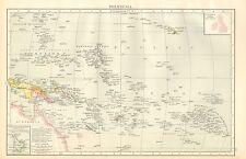 1895 Grande Antico Mappa-Polinesia