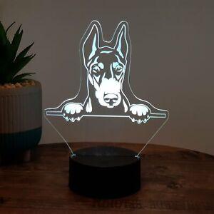 LED Lampe Hund / Dobermann