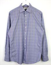 "Thomas PINK Mens Long Sleeve Slim Fit Sterling Shirt Blue Checkered VGC - 16"""