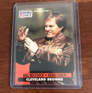 Bill Belichick NFL Pro Set 1991 ROOKIE Card #126 RC Cleveland Browns