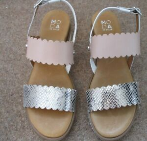 Moda in Pelle Navello Sandal Rose Gold Nude Size Uk 8 41 New