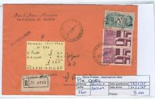 STORIA POSTALE - REPUBBLICA MULTIPLI - PIIM0054 - RACCOMANDATA - 5.00€