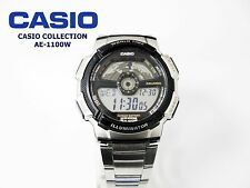 CASIO COLLECTION  AE-1100W  WORLD TIME WR.100