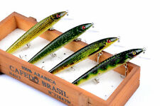 4pcs Plastic Bait Wobblers Minnow Lure Fishing Lures Bass CrankBait 12cm/13.7g