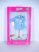 NEW BARBIE DOLL FASHIONS 1995 FASHION AVENUE BLUE PLAID SHIRT SHORTS