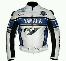 YAMAHA R1 BLUE MOTORBIKE/MOTORCYCLE LEATHER JACKET -CE APPROVED FULL PROTECTION