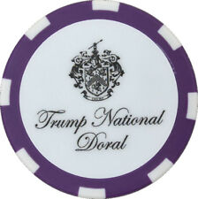 TRUMP NATIONAL DORAL (Blue Monster) - Purple/White - POKER CHIP Golf BALL MARKER