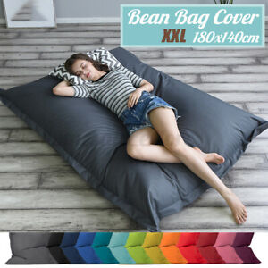 Waterproof Bean Bag Cover Chair Bed Lazy Lounger Cushion Pillow Indoor Outdoor