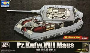 Trumpeter 1:35 PzKpfw VIII Maus Tank Plastic Model Kit 9541