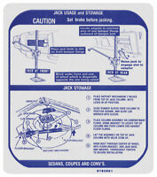 Land Rover Defender 90 110 Military Wolf Jack Jacking Info Sticker Decal Label