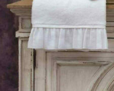 2er Set Hand Towel Guests Towel White Terry Cottage Shabby Chic Vintage Bath