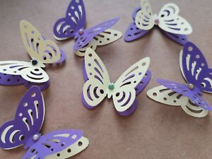 24x 3D paper butterflies Wedding Party table decorations shabby vintage