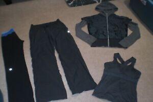 Lot of Lululemon Astro Pants, Dance Studio Pants, Rare Jacket w Hood, Tank sz 6