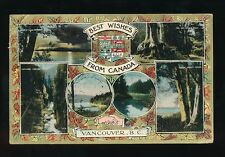 Canada BC VANCOUVER Best Wishes Hands Across the Sea M/view PPC Used 1914